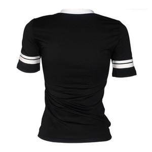 Loose Print Tee Female Clothing Women Summer Tshirts Ladies Designer T Shirt Short Sleeve O-Neck Black Tops
