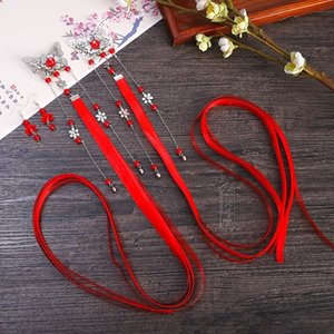 0NUof Antik Kostüm tarak Şerit headdress Headdress klasik pin eski tarz Han giyim aksesuarları ipek çiçeği tarağı püskül kurdele ha