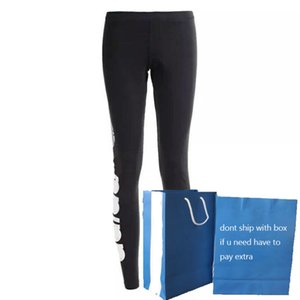 Lettera Bianco donne leggings neri stampano i pantaloni di yoga attivi pantaloni della tuta delle donne traspirante Joggers di alta qualità 2020 Nuovo commercio all'ingrosso