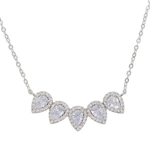 Elegant necklace multi shiny crystal Jewelry Fashion Statement Necklace Bijoux New Party Trendy for woman ornaments gift