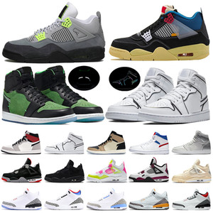 nike air Jordan Retro 4 basketball Shoes fashion designer Brand Leather gazelle og Black white Pink Men Runner Womens Sneakers sports Shoes