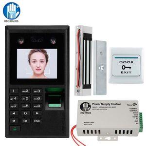 2,8 «» Face Fingerprint Access Control System Kit Биометрические Пароль Клавиатура + Электромагнитное Электрический 180кг магнитный / Болт замка