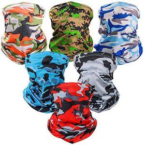 Protección UV del sol Mascarilla de refrigeración cuello polaina pasamontañas Bandana bufanda Sombrero Máscara Mágica Partido Pañuelo camuflaje máscara HH9-3321
