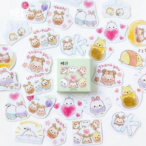 45pcs Kutusu Sevimli Hayvan Karikatür Hayvan Kağıt Çıkartma Dekorasyon Diy Günlüğü Scrapbooking Sticker Çocuk Favori Kırtasiye Çocuk Hediye bbylgV