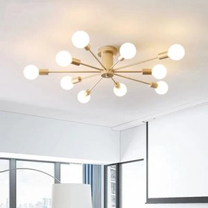Simple and modern bedroom ceiling lamp Nordic minimalist style warm living room creative personality children's room molecular lightin RW339