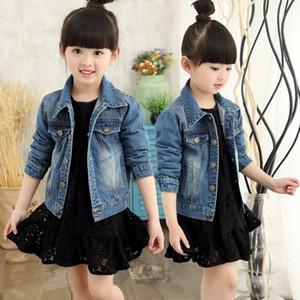 Подросток девушки джинсовой куртки пальто весна осень 2020 Дети Детская Верхняя одежда Одежда Джинсы Куртка для девочек 4-12 лет 49 Y200901
