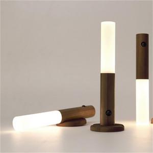 Akıllı insan vücudu indüksiyon gece lambası LED şarj edilebilir koridor dolabı duvar lambası ev banyo güçlü duvar indüksiyon lamba