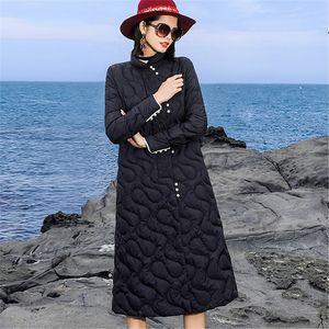 Hot Sale Winter New Fashion Women Down jacket Fashion Casual Slim Outerwear white duck down light Coat Long section