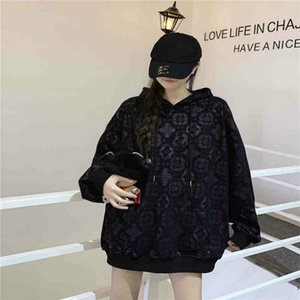 Women Hoodie Autumn Spring Hoodies Letters Pattern Printed Sweatshirt Unisex Sweater With Pocket Pullover Hip Hop Clothing M-XL