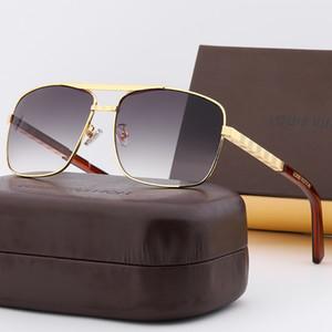 LVLOUISVUITTONBrand New Hommes Lunettes de soleil doux monstre alliage monture de lunettes soleil Mode Femmes boîte Vintage Lunettes de soleil