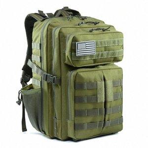 Sac à dos étanche 45L Army Men tactique Bag Outdoor Voyage Rucksack Tactical Assault Sac à dos Camo Sac ruN4 # 3P