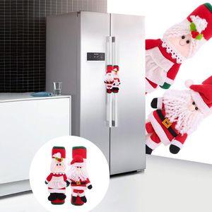 2020 Christmas Fridge Handle Covers Santa Claus Microwave Oven Dishwasher Door Handle Cover Xmas Christmas Party Decor 14*31cm