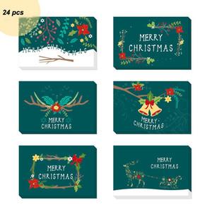 Рождественская открытка мультфильм Набор печати Творческий Прекрасные Сувениры Сообщение Blessing карты Конверт набор наклеек VT1612