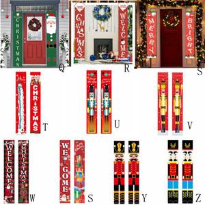 25style Coplas de Navidad Feliz Navidad Banner Banner Porche puerta colgando banderas muestra que cuelga las decoraciones de Navidad cortina Couplet GGA3750-1