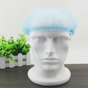 100pcs lot Disposable Dust-proof Caps One-Off Elastic dust-proof Hat Beauty Salon Cap Hotel Cleaning Supplies GWD1870
