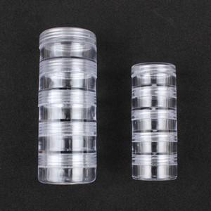 Casella vuota di caso di scintillio di cristallo del Perle Accessori Contenitore Nail art trasparente decorazioni di immagazzinaggio della cassa della scatola di chiodo