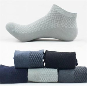 Spring Designer Men Sock Slippers Sports Breathable Stretch Solid Color Mens Socks Casual Plaid Ankle Length Socks