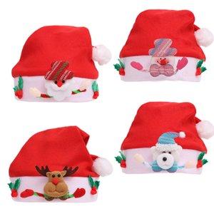 NEW 도착 산타 클로스 의상 크리스마스 장식 크리스마스 산타 클로스 모자 빨간색과 흰색 모자 파티 모자 아이 크리스마스 모자를 들어
