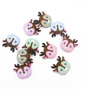 Whoelsale Noel Geyik Mini Silikon diş kaşıyıcınız BPA Free Silikon Boncuk Güvenli Teething Boncuk Bebek Ürünleri Emzik Zincir kolye Aksesuarları
