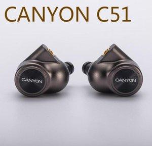 CANYON C51 DD+4BA Hybrid Hifi Music HD Monitor DJ Studio Stage CNC Metal Deep Bass MMCX Audiophile Musician