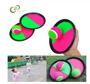 Wholesale-1Set Kids Sucker Sticky Ball Racket Toy Outdoor Sports Catch Ball Game Set Throw And Catch Parent-Child Interactive Outdoor Toys