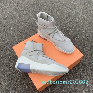 Air Fear Of God FOG 1 String Oatmeal Triple Yellow Sail Frosted Spruce Mens Boots Running Sneakers Shoes Luxury Designers Best Quality r02