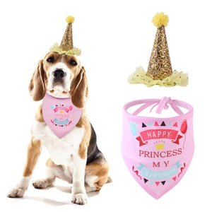 Chien Ballons d'anniversaire de chat Produits pour animaux Chapeau d'anniversaire en or rose Globos fête de Noël Animal Supplies Safari Party Décor