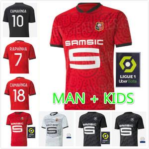 Rennes 20 21 Stade Rennais FC Soccer Jerseys Away Niang Bourigeaud Terrier 2020 2021 Maillot de pé Raphinha Homem Kit Kit de futebol