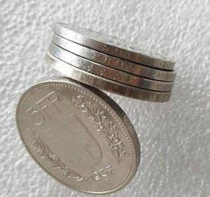 Svizzera placcato Unc 5 (Confederazione) Francs Diametro: 31,45 millimetri Coin Franken) Nichel 1948 Argentato Copy Ottone (5 yxlaY lucky2005