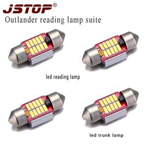 JSTOP 4pcs / set Outlander condotto lampade canbus 31 millimetri condotto C5W alta qualità 4014smd 12VAC festone 6000K tronco bulbi luci di cupola