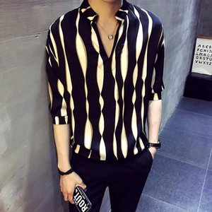 Нашивки пуловер рубашка мужского HERREN Hemd Камиз masculina рубашка Homme корейских моды стильного дизайнер мужчины 2020