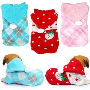 Ropa para perros de invierno para la pequeña ropa traje Perros Gatos Perros para mascotas en la capa pijama de Navidad de perrito Chihuahua 30 sudaderas