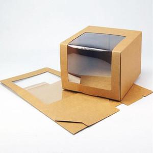 Boîte de chapeau de papier 100pcs avec fenêtre PVC Bason de baseball Béret Béret Boîtes d'emballage Boîte d'emballage cadeau
