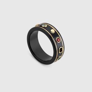 Moda siyah halkalar bague anillos moisanit erkek ve kadınlar nişan düğün takı sevgilisi hediye