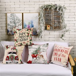 "18"" Throw Pillow Covers Christmas Decorative Couch Pillow Case Square Cushion Cover for Sofa Couch Bed Car JK2009PH"
