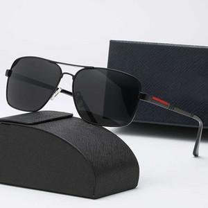 2019 Wholesale-Fashion Mens Sunglasses Flat Top Lens Sun Glasses For Men Square Gold Male Sunglass Driving Big Metal Man