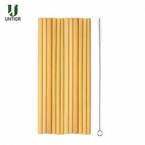 UNTIOR / Bamboo palha reutilizável Straw portátil Natural Bamboo Palhinhas Bar Party For Acessórios Atacado ME98 #