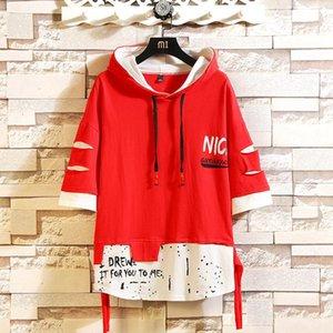 Fashion Marque Sweats Sweats Sumre Blanc Blanc Hop Hop Loose Skate-planche Japonais Sweatshirts Casual Streetwear Punk Vêtements KG-950