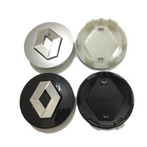 57 мм Серебряный Abs Center Center Center Caps Cars Rims Cover Emblem Badge Fit для Renault Clio Megane живописная Laguna Twingo
