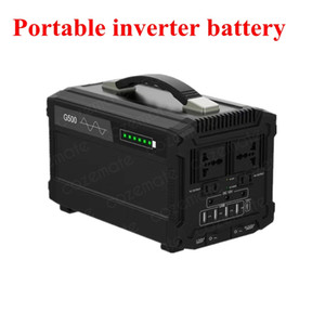 12v 40Ah 500W Lithium Portable Inverter Battery Pack with USB Port for Max 16 Hours Street Light Laptop Ebike Electric Appliance