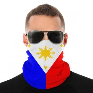 Máscara de la bandera de Filipinas de la bufanda de la media cara del tubo unisex de Halloween máscara de cuello del pañuelo a prueba de polvo diadema Ciclismo Escalada