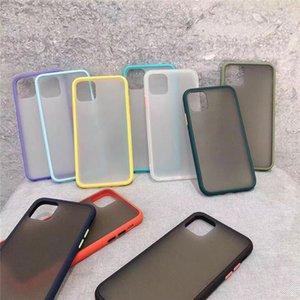 DHL100pcs Telefon-Kasten für iPhone 6 7 8 plus X 11 12 Pro Max X XR XS Max 7Plus Luxus-Kontrast-Farben-Rahmen Harten Matt TPU + PC Schutz