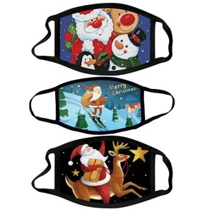 Christmas pure cotton adult Kids mask cartoon cloth masks can be washed with water dust masks