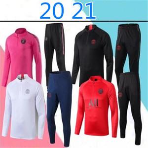 Новый 20 21 Париж Футбол Sportswear 2020 2021 Париж взрослых Брюки мужские тренировочные костюмы
