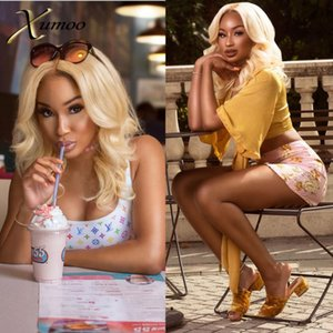XUMOO Cheap Natural Hairline Remy Hair Body Wave Blonde Wig Human Hair 360 Lace Frontal Wig 360 Lace Wigs For Black Women