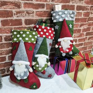 Faceless boneca de Natal socking dom sacos de doces para crianças decorações de Natal meias Floresta de idade homem de Natal Pendant T9I00521