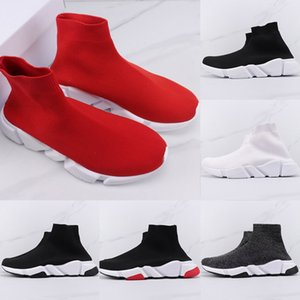 New Women Red Knitted Speed Training Shoes Men Casual Socks Sports Shoes Outdoor Fashion Mesh Elastic Shoes