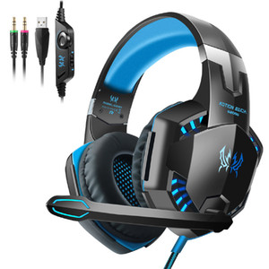 G2000 Gaming Headset Over-Ear Gaming cuffie surround Stereo Riduzione del rumore con la luce del Mic LED per Nintendo interruttore gioco per PC in scatola