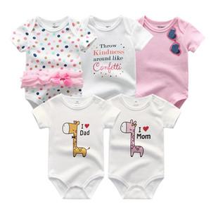 Kiddiezoom Marca Baby rompers meninas miúdos Macacão Infantil roupas recém-nascido verão romper 2020 roupas dos bebés