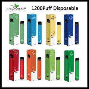 100% auténtico Airis XL Desechables Pod Dispositivo 1200puff 850mAh 3,5 ml precargada portátil Vape palillo de plumas Sistema de barra de DHL